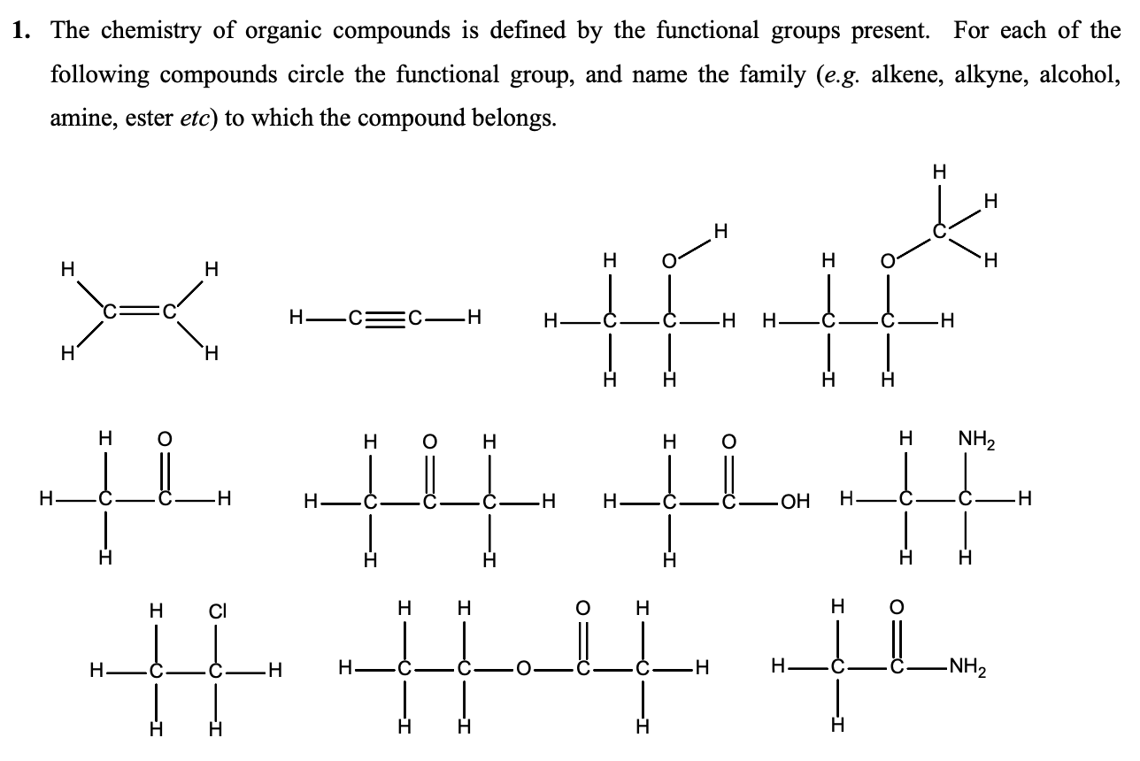 Solved 1 The Chemistry Of Organic Compounds Is Defined B Chegg Com