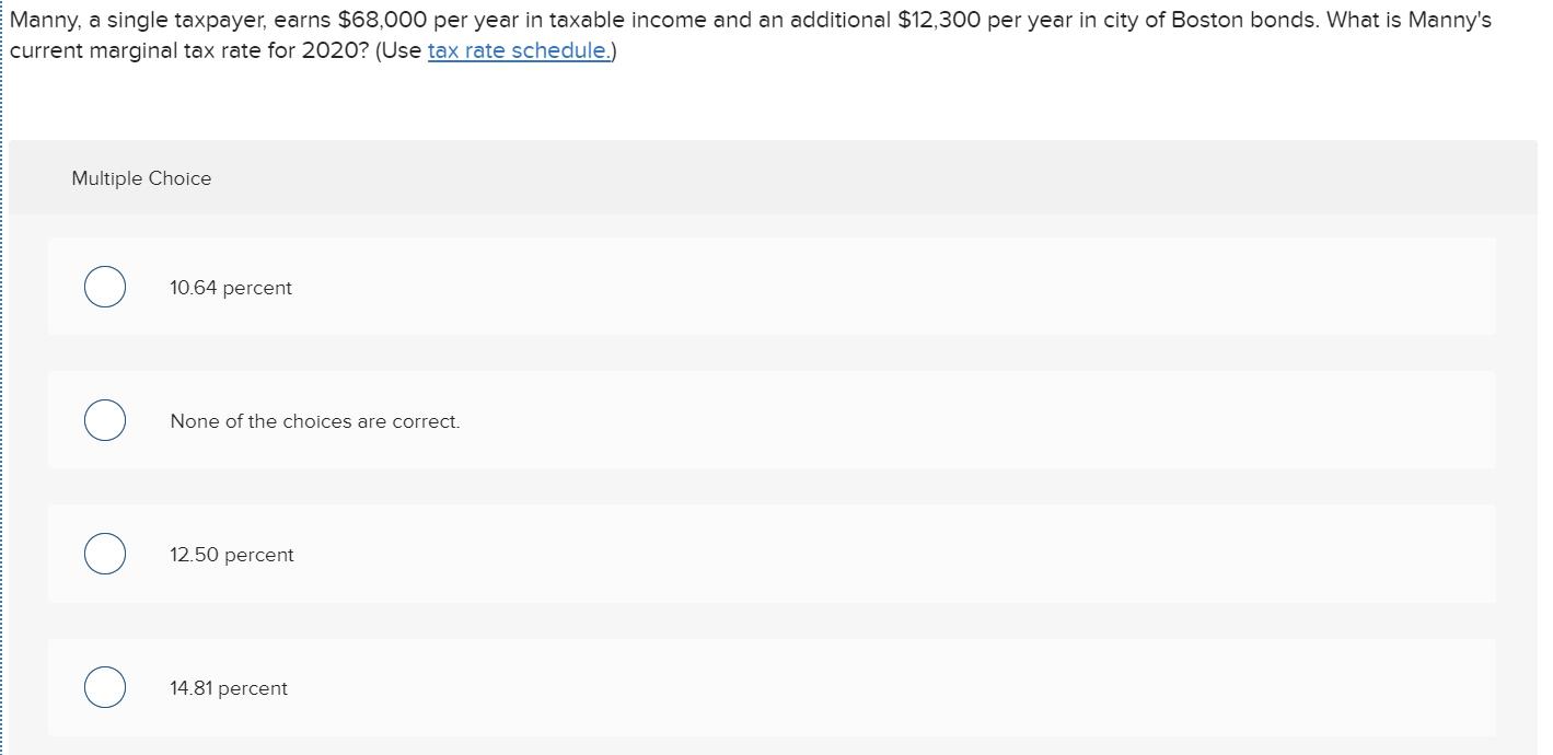 manny a single taxpayer earns 65000)
