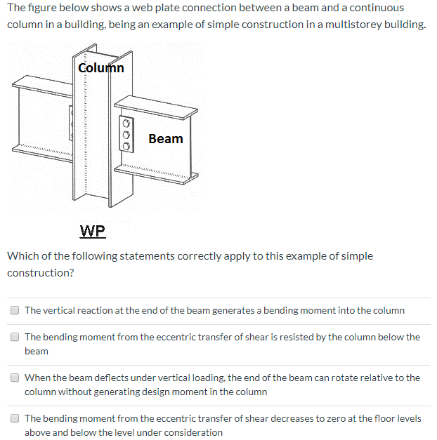 Solved: The Figure Below Shows A Web Plate Connection Betw