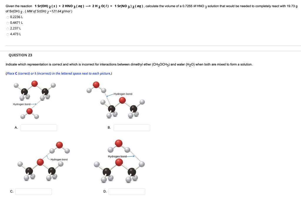Solved: Given The Reaction 1 Sr(OH)2(s) + 2 HNO3(aq) --> 2... | Chegg.com