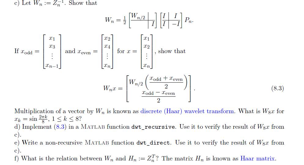 P8 9 4 Discrete Haar Wavelet TransformConsider The