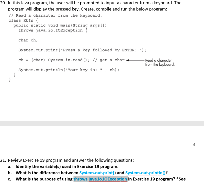 Solved: 20  In This Java Program, The User Will Be Prompte