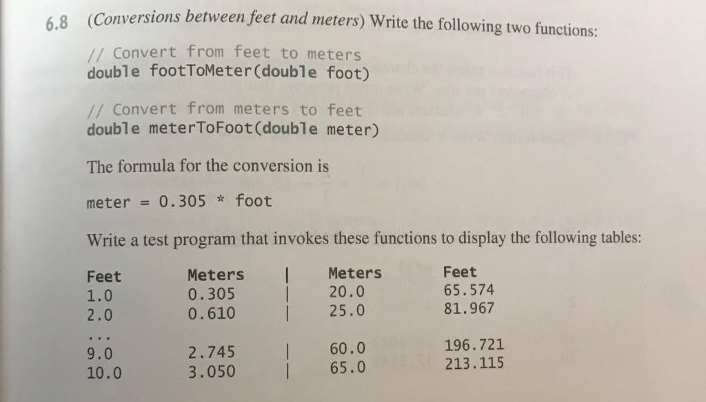 foot in meters