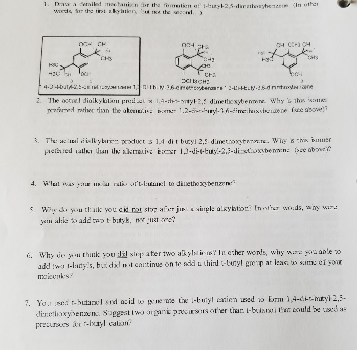 1 Draw A Detailed Mechanism For The Formation Of Chegg Com