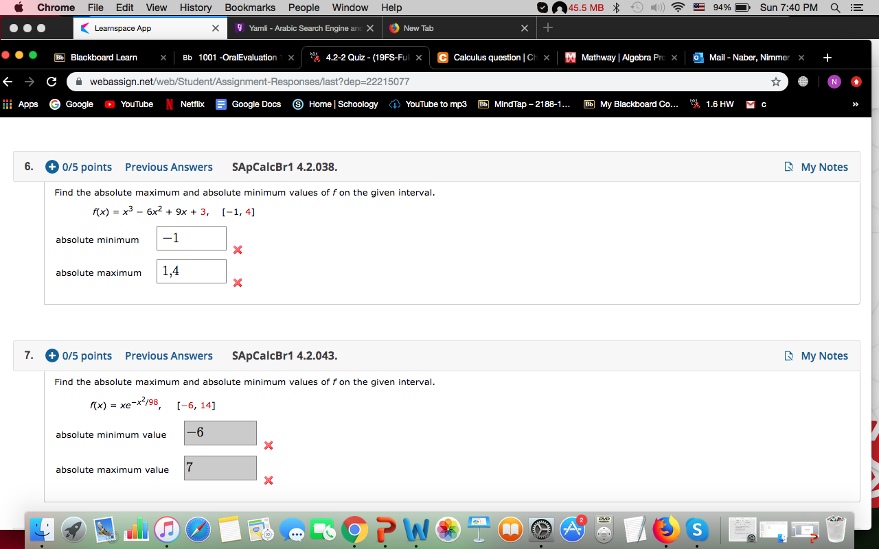 45.5 MB 94% Sun 7:40 PM Chrome File Edit View Hist ... Mathway Arabic on