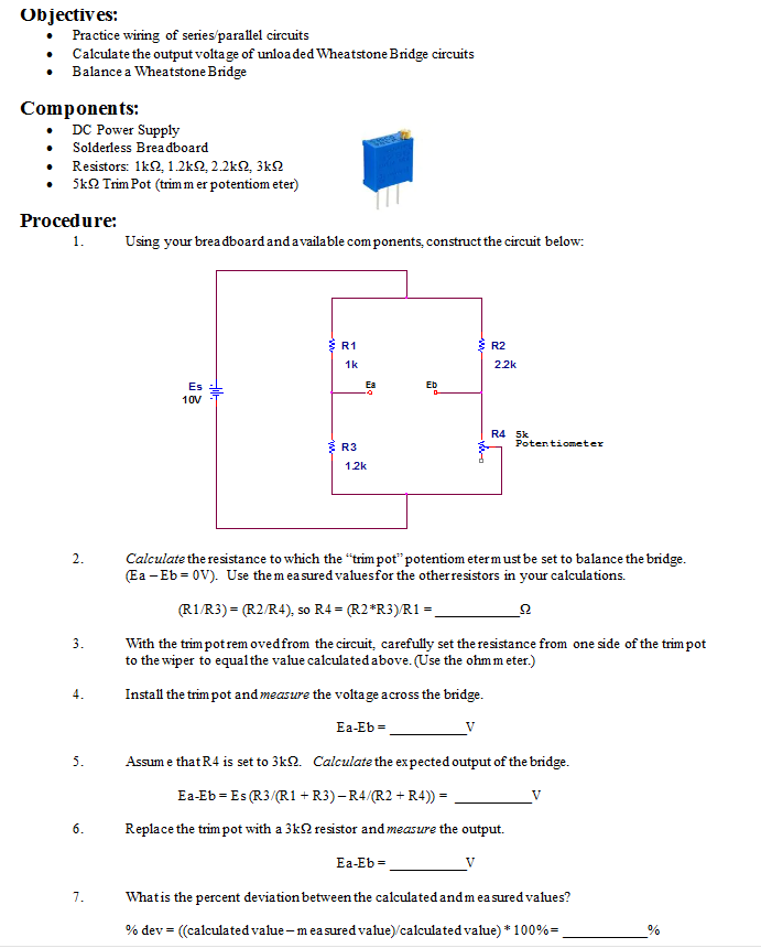 Solved Objectives Practice Wiring Of Series Parallel C