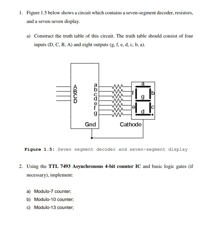 logic diagram 7493 solved 1 figure 1 5 below shows a circuit which contains  figure 1 5 below shows a circuit