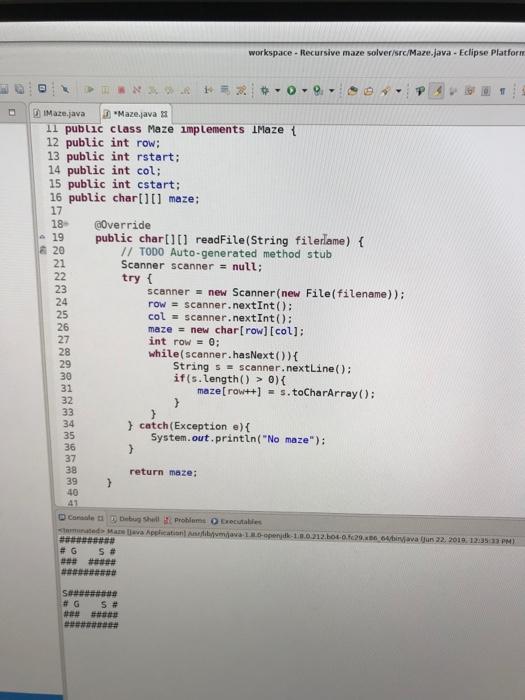 JAVA 1 8 0 OPENJDK VS JAVA 11 OPENJDK - Java Recursive Maze