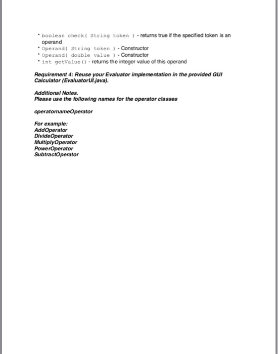 Solved: Evaluator java Package Edu csc413 calculator evalu