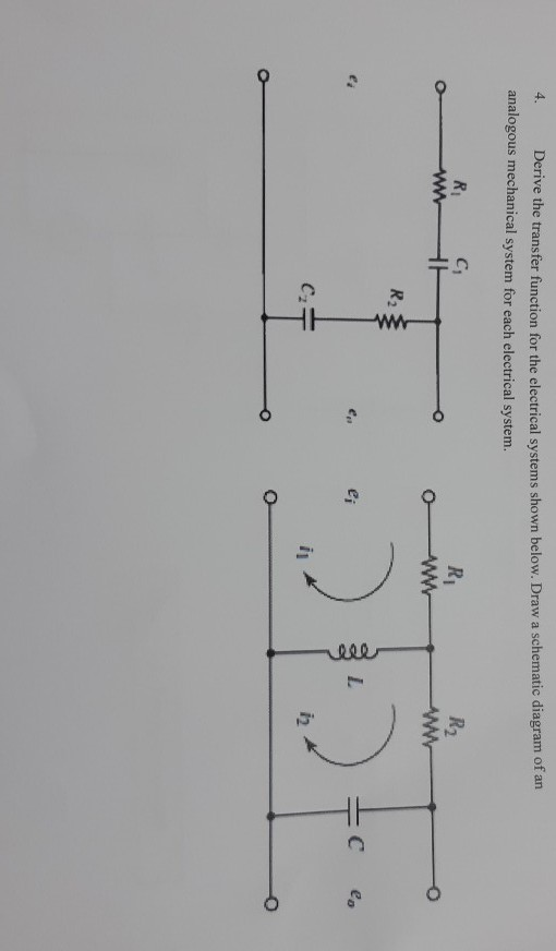 Solved: Derive The Transfer Function For The Electrical Sy ... on