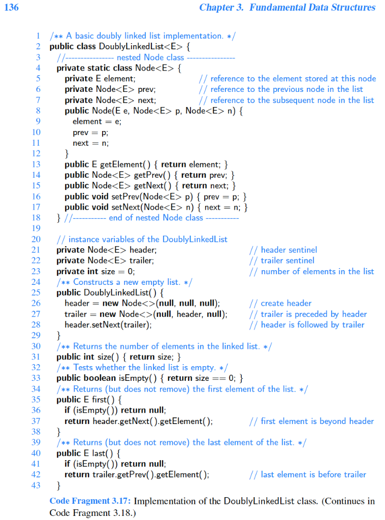 Nested List Implementation