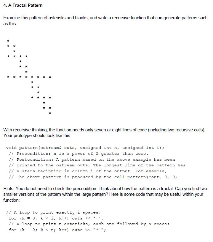 recursive print function in c