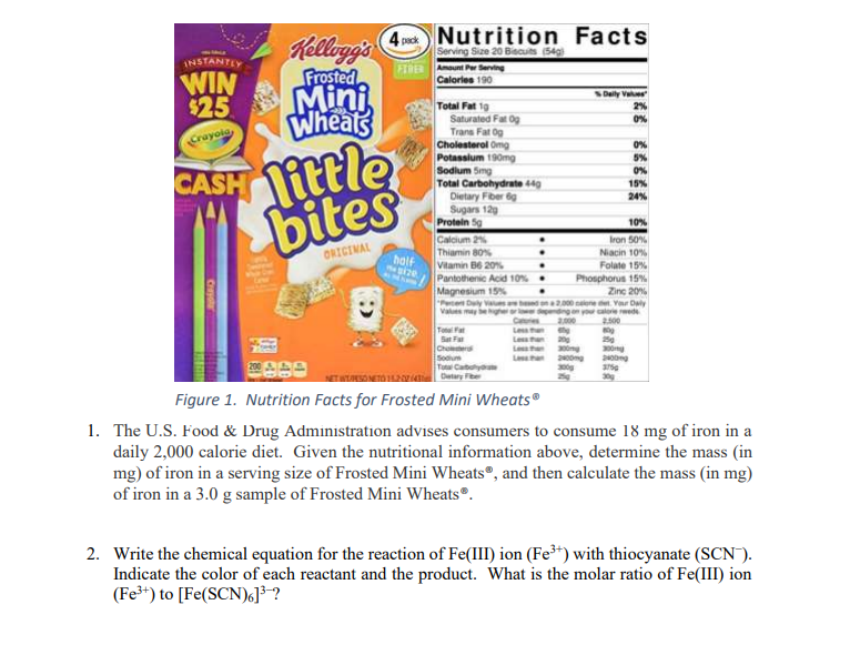 Nutrition Facts INSTANTE Kellogg's
