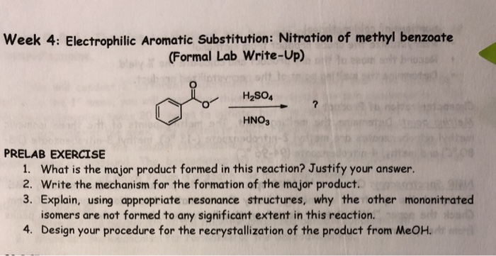 electrophilic aromatic substitution lab report