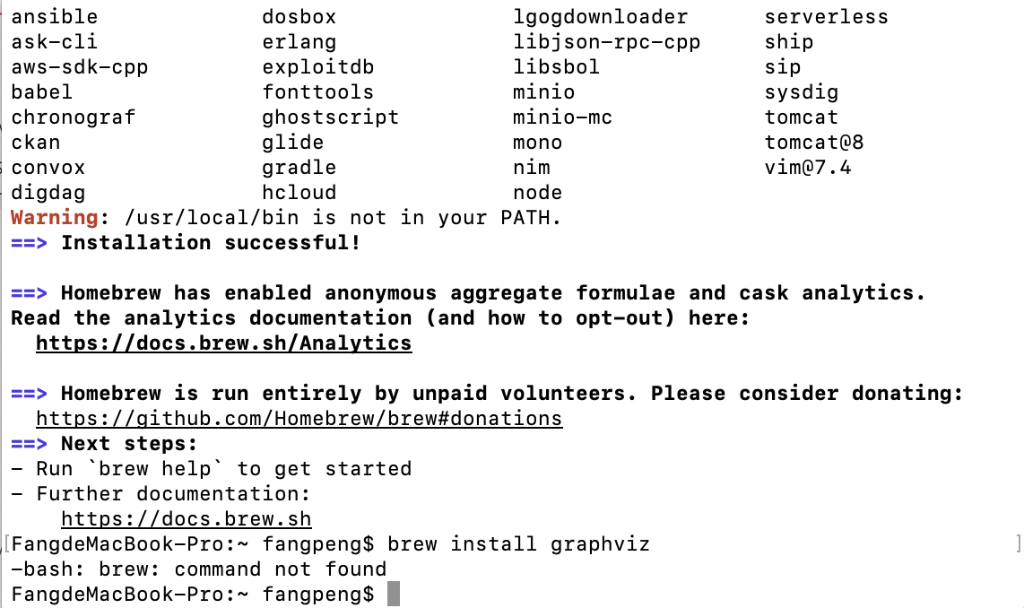 LINUXBREW INSTALL VIM - When I Try To Install Graphviz  It Shows