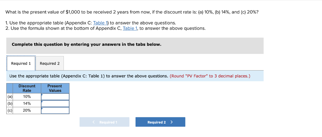 Solved: What Is The Present Value Of $1,000 To Be Received