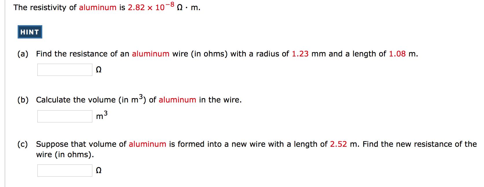 Alumiinin Resistiivisyys