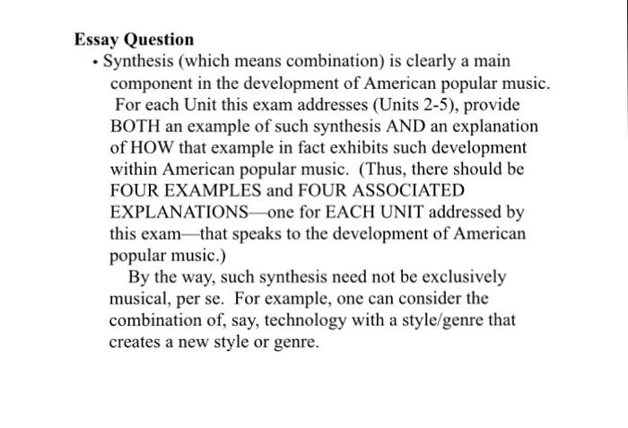 American popular music essay