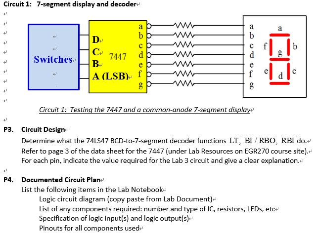 circuit diagram for 7 segment decoder please follow instructions wire the breadboard  yo chegg com  follow instructions wire the breadboard