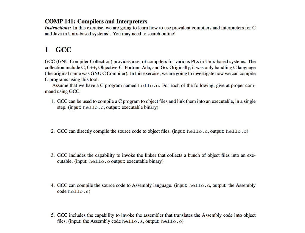 Solved: COMP 141: Compilers And Interpreters Instructions