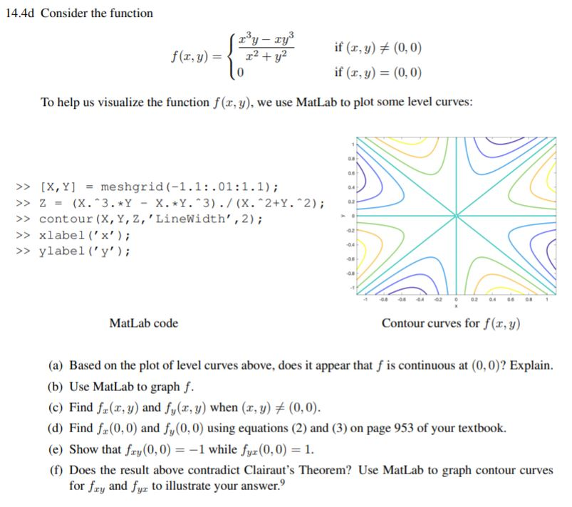 14 4d Consider The Function (rºy - Ry F(x,y) = { 2