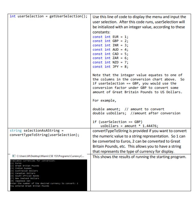 Solved C Program Starting Code