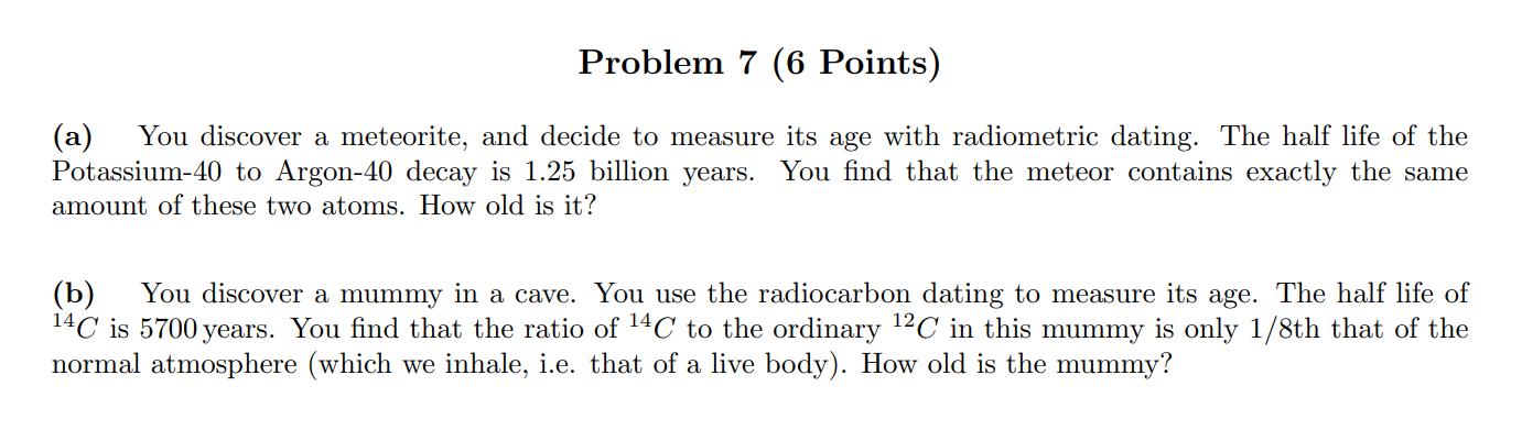 Radiometrisk dating problemer