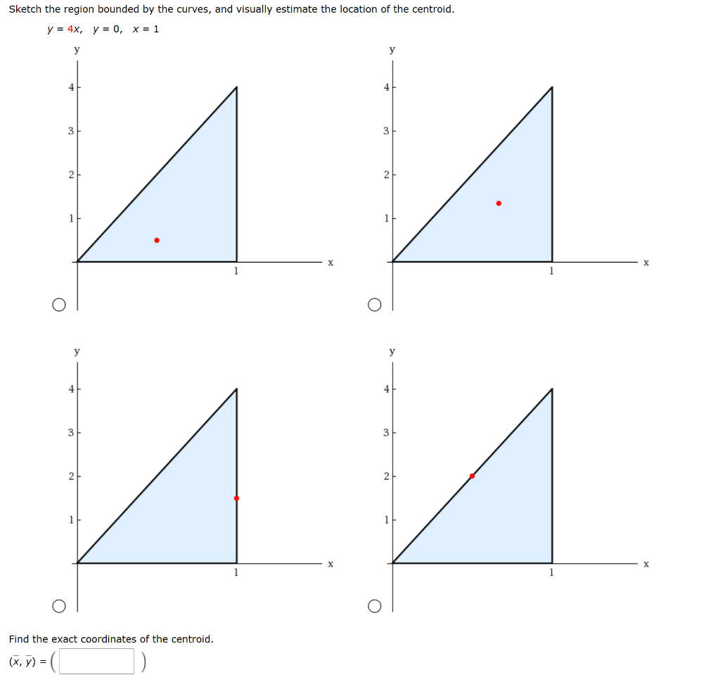 Solved: Sketch The Region Bounded By The Curves, And Visua