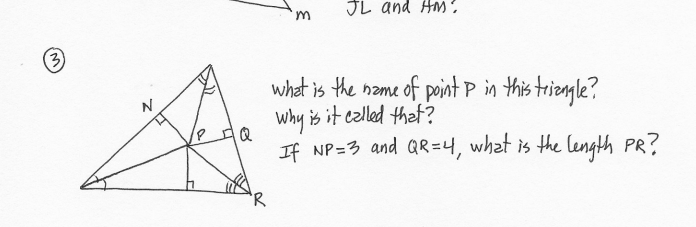 Solved Jl And Hm 3 N What Is The Name Of Point P In This Chegg Com