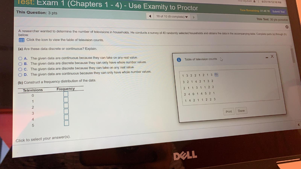 Solved: Test: Exam 1 (Chapters 1-4) - Use Examity To Proct