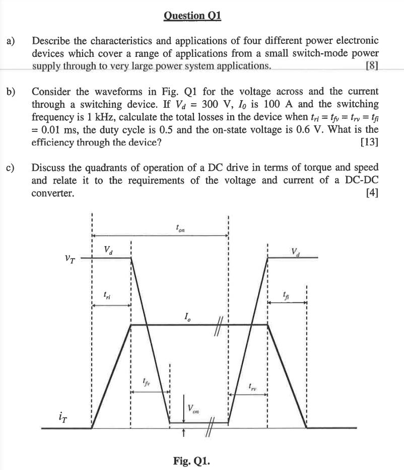 Question 01 Describe The Characteristics And Appli