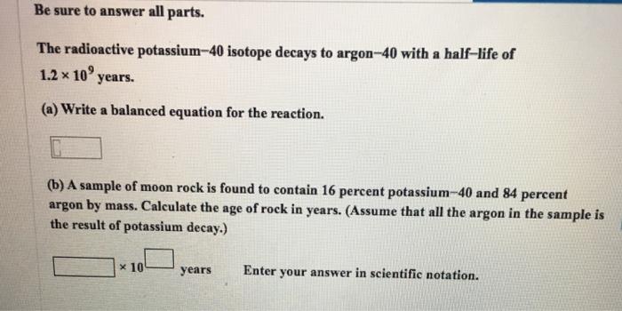 where is potassium 40 found