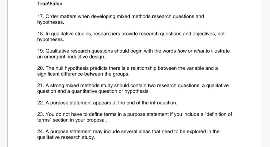 Write research questions and hypotheses