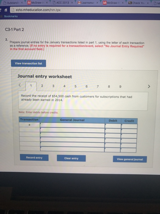 Mcgraw Hill Connect Accounting Homework Answers