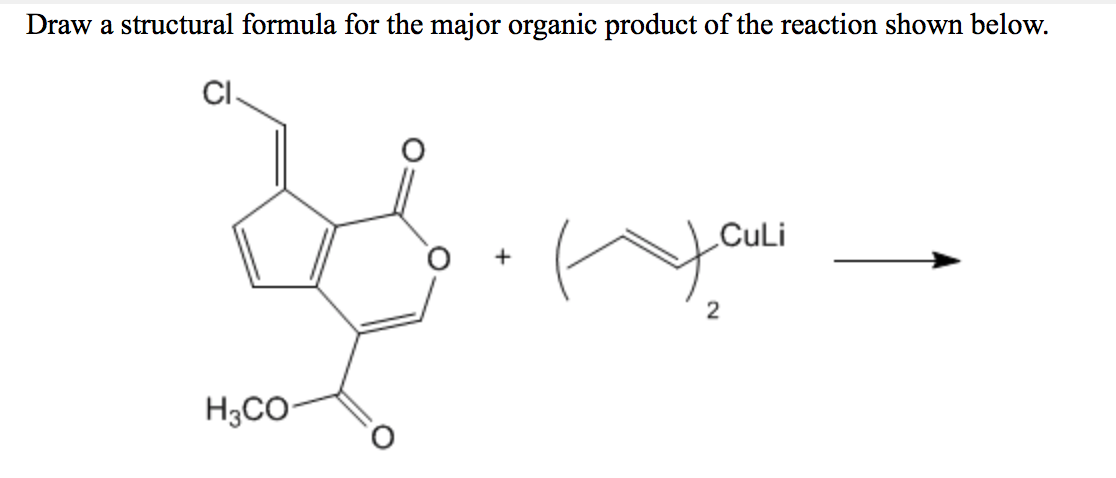 Solved: Draw The Major Organic Product(s) Of The Following ...