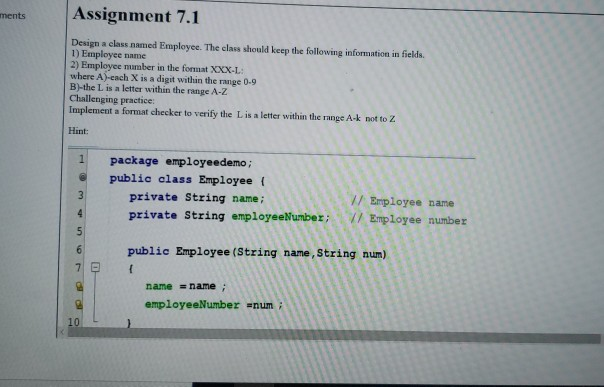 Solved: Ments Assignment 7 1 Design A Class Named Employee