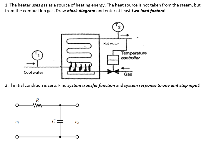 1. The heater uses gas as a source of heating energy. The heat source is not taken from the steam, but from the combustion ga