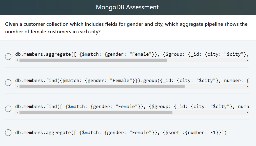 Solved: MongoDB Assessment Given A Customer Collection Whi