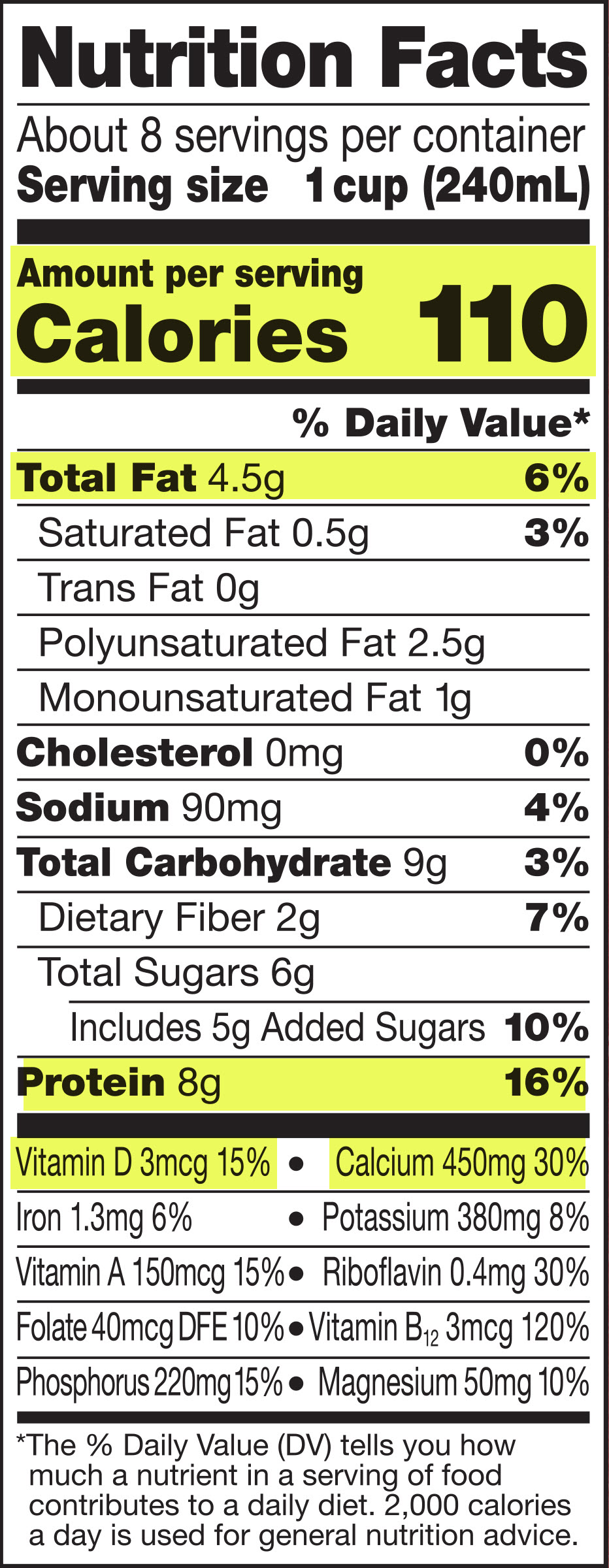 Solved Attached Are Nutrition Labels For Whole Milk Soy Chegg Com