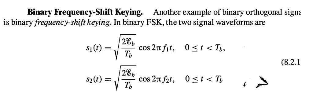 Solved: Binary Frequency-Shift Keying Is Binary Frequency