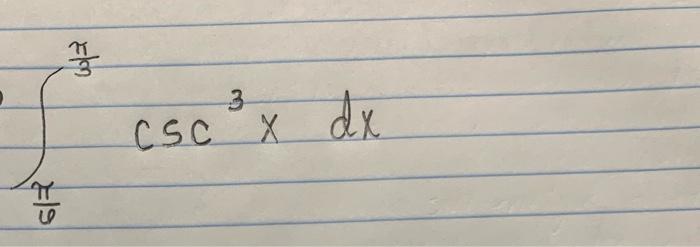 3 Csc x dx