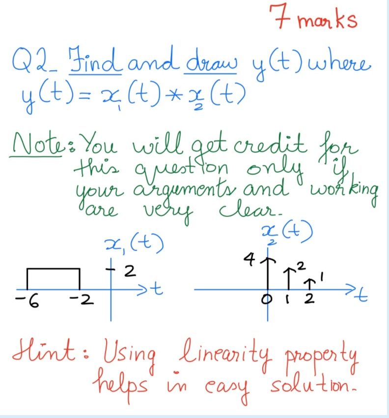 Solved 7 Marks Qq Find And Draw Y T Where Y T X T R Chegg Com