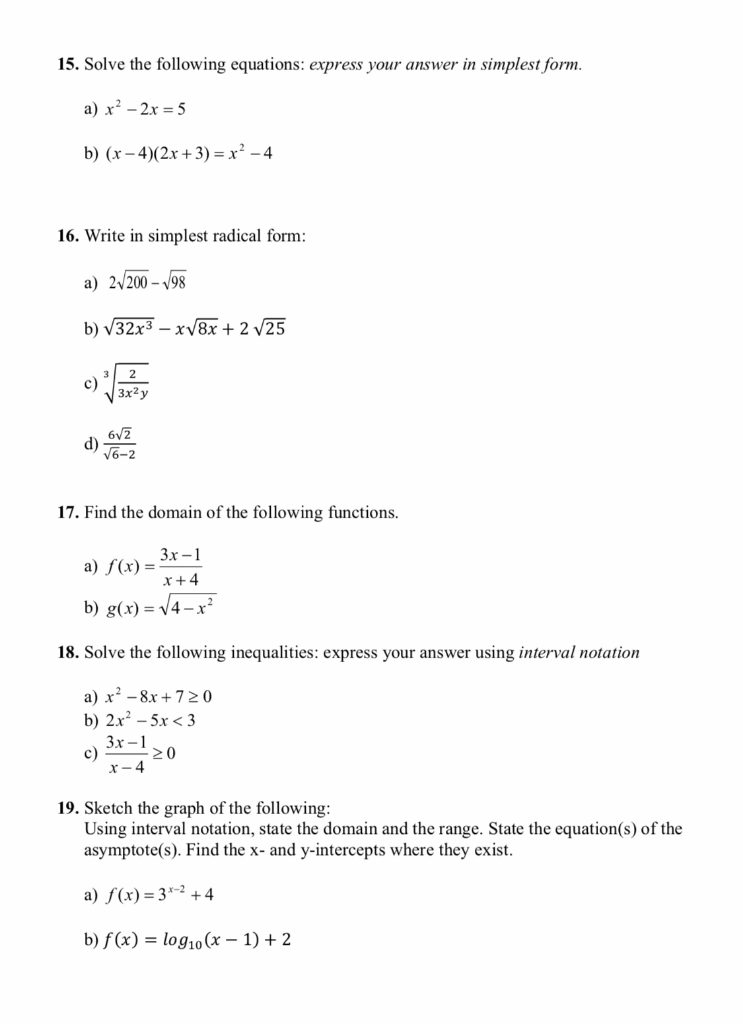 simplest form solver  Solved: 11. Solve The Following Equations: Express Your An ...