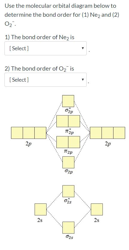 Solved: Use The Molecular Orbital Diagram Below To Determi...   Chegg.com