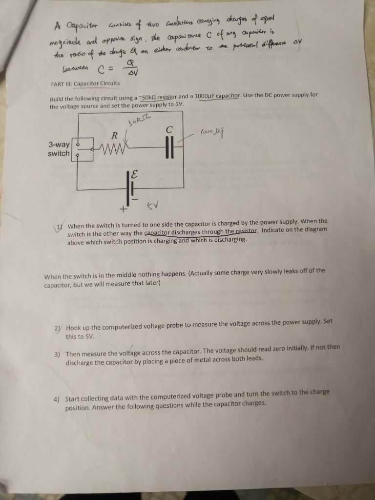 Capacitor Why Do Rc Circuit Voltages Decay Slowly Rather Than
