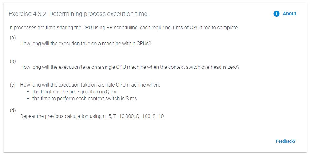 Solved: Exercise 4.3.2: Determining Process Execution Time ...
