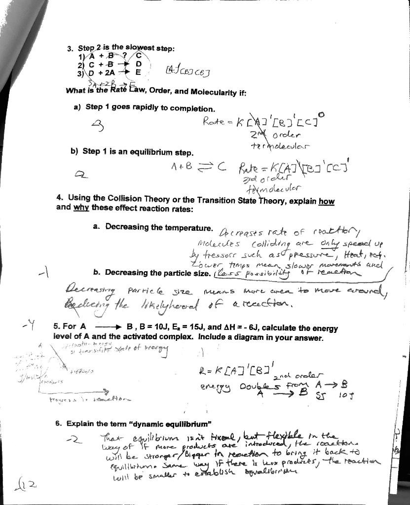 Solved: Chem 1B Exam#2 (Chemistry II Test #1) Did Not Do W