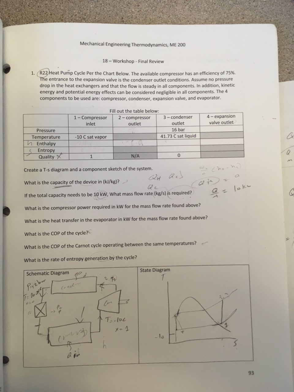 Solved: Mechanical Engineering Thermodynamics, ME 200 18 ... on