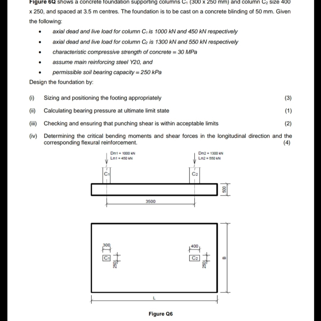 Solved: Figure 6Q Shows A Concrete Foundation Supporting C