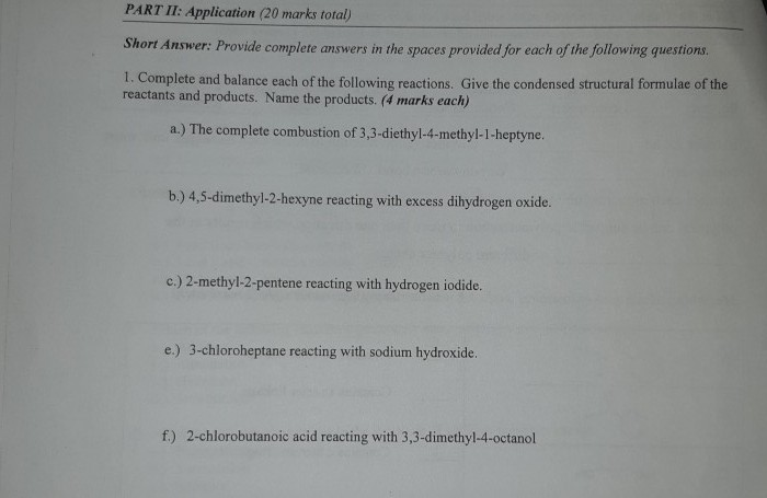 Solved: This Is A Grade 12 Organic Chemistry Problem  Plea